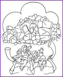 Homely Ideas Joshua Fought The Battle Of Jericho Coloring Page 30 Best JOSHUA THE BATTLE OF