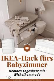 ikea hack fürs babyzimmer hemnes tagesbett mit wickelkommode