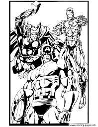 Captain America Thor And Iron Man Coloring Pages Print Download