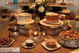 Rustic Elegant Wedding Shower Table Decor