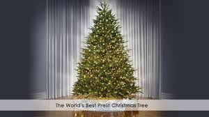 Noble Fir Flocked Artificial Christmas Tree by The World U0027s Best Prelit Christmas Trees From Hammacher Schlemmer
