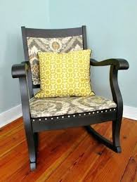 Rocking Chair Cushion Sets Uk by Mission Style Rocking Wood Chair With Leather Cushion Wooden