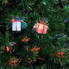 6ft Christmas Tree Fibre Optic by Premier Fibre Optic Led Lit Parcel Christmas Tree U2013 1 2m