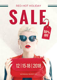 Red Hot Holiday Sale Advertising Poster