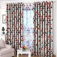tissus pour rideaux pas cher pas cher géométrique triangle imprimé sheer rideaux blackout tissu