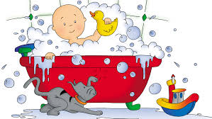 100 caillou pees in the bathtub 100 caillou in the bathtub