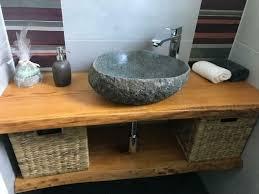 massiv baumkante waschtischplatte eiche tischplatte waschtisch