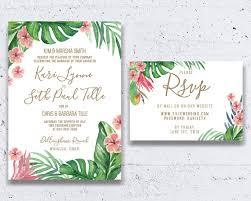 Tropical Wedding Invitation Beach Invitations Destination Theme