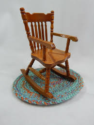 Dollhouse Miniature 1:12 Scale Small Grandma Wood Rocker Rocking Chair  #Z213C White Child Toddler Small Rocking Chair In Dawlish Devon Gumtree Rocking Chair For Small Spaces Chairs Antique Gustav Stickley W4168 Heirloom With Cushions Mller Living Rocker Takestop Set Of 2 Wooden 15 Cm Decoration Best Glider Recliner Nursery Childs Bentwood C1920