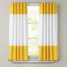 curtains yellow and white curtain panels the land of nod