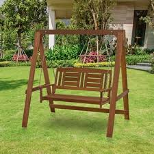 Ez Hang Chairs Assembly by Christopher Knight Home Tulip Outdoor Wood Swinging Loveseat