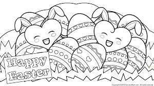 Easter Coloring Pages For Kids Printable Happy 2017 In