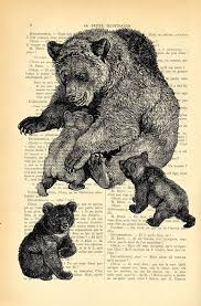 Mother Bear And Three Baby Bears Art Print By MadameMemento