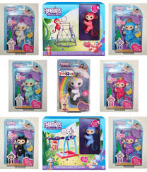 Fingerlings Set Of 6 Monkeys 2 Playsets Gigi The Unicorn Authentic Fingerling