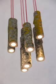 Lampu Gantung Ruangan Dengan Batang Kayu Asli