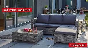 porta lounge set mit sofa tisch hocker und polster für