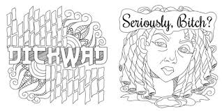 Adult Coloring Book With Swear Words