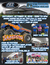 2015-Open-House-Flyer - Samson4x4.com | Samson Monster Truck 4x4 Racing Dooms Day Monster Trucks Wiki Fandom Powered By Wikia Trucks Revved To Take Over Huntington Center The Blade Pgh Momtourage Jam Ticket Giveaway Noise Pr Ann I Am Family 4 Pack For Monster Jam Cincymonsterjam Orlando Florida Trippin With Tara Truck Images Bestwtrucksnet Sudden Impact Racing Suddenimpactcom Night Out Photo Recap Pladelphia Grave Digger Home Facebook Three Best Websites About Cool Rides Online