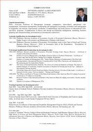 Resume Of Hotel Management Physic Minimalistics Co