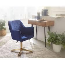 wohnling design drehstuhl dunkelblau samt drehbar ohne