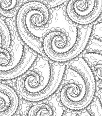 Stress Less Coloring Paisley Patterns