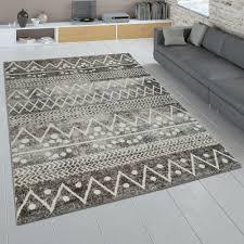 ethno teppich wohnzimmer boho design kurzflor