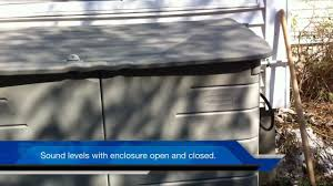Portable Generator Shed Plans by Home Built Enclosure For Portable Generator The Details Youtube