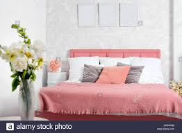 stilvolles interieur der modernen schlafzimmer weiß und