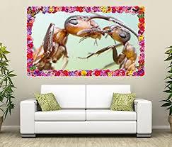 3d wandtattoo ameise mutter insekt ameisen liebe blumen