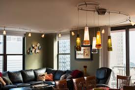 living room dinning kitchen ceiling lights lighting wall track