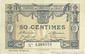 chambre de commerce de calais 50 centimes regionalism and miscellaneous calais 1920 jp