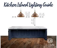 kitchen island lighting guide clairebella studio