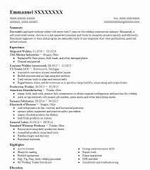 Shipyard Welder Resume Sample