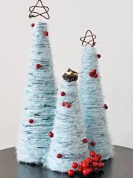 Plastic Wrap Your Christmas Tree by How To Make Yarn Christmas Trees Hgtv