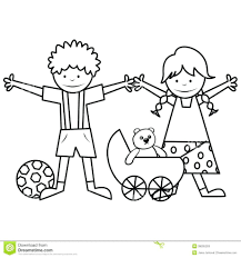 Unique Boy Nd Girl Coloring Pages With Dditional Free Colouring For Outline Of