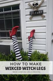 Dryer Vent Pumpkins by How To Make Wicked Witch Legs U2022 Grillo Designs