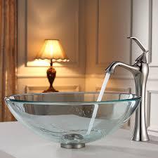Brushed Nickel Bathroom Faucets Single Handle by Kraus Kef 15000 Pu15bn Ventus Single Lever Vessel Bathroom Faucet