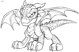 Coloring Book Baby Dragon Page Dragons School Spirit