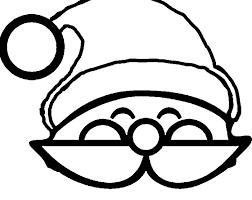 Pin Drawn Santa Hat Coloring 1