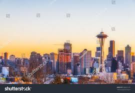 100 Beautiful Seattle Pictures City Scape Sunset Washingtonusa Stock Photo Edit