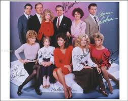 Fire Trapped On The 37th Floor Cast by Knots Landing Tv Cast Photograph Signed With Cosigners