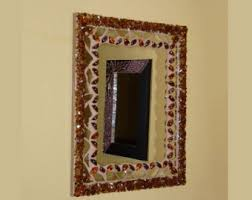 Brown Mosaic Bathroom Mirror by Decorative Mirror Etsy