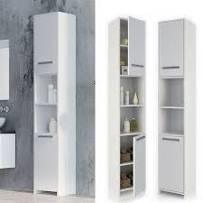 vicco badschrank kiko 190 x 30 cm weiß badezimmerschrank hochschrank regal badregal