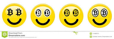 Download Bitcoin Smiley Emoticon Yellow 3d Emoji With Black And White Btc Symbols In Place