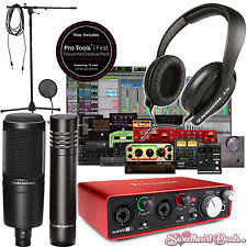 Home Recording Studio Package Bundle TWO MICS Focusrite Audio Technica Pro Tools