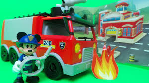 100 Mickey Mouse Fire Truck CLUBHOUSE Emergency Disney Junior Game For