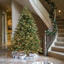 7ft Pre Lit Christmas Trees by 7 5 Ft Pre Lit Feel Real Nordic Spruce Hinged Christmas Tree