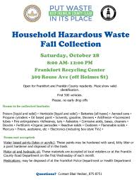 Waste Management Christmas Tree Pickup Schedule by Franklin County Solid Waste Management