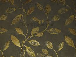 Wallpaper John s – Charcoal & gold Leaf design Italian vinyl 66