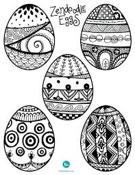 Full Image For Free Printable Easter Egg Coloring Pages Adults Images